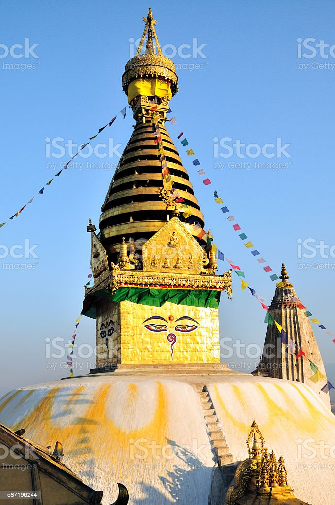 Swayambhunath Stupa (Monkey Temple), Kathmandu, Nepal stock photo