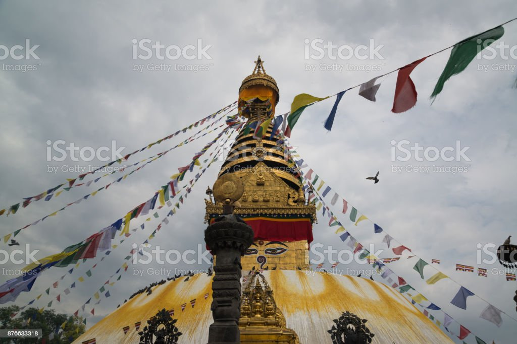Swayambhunath Stupa stock photo
