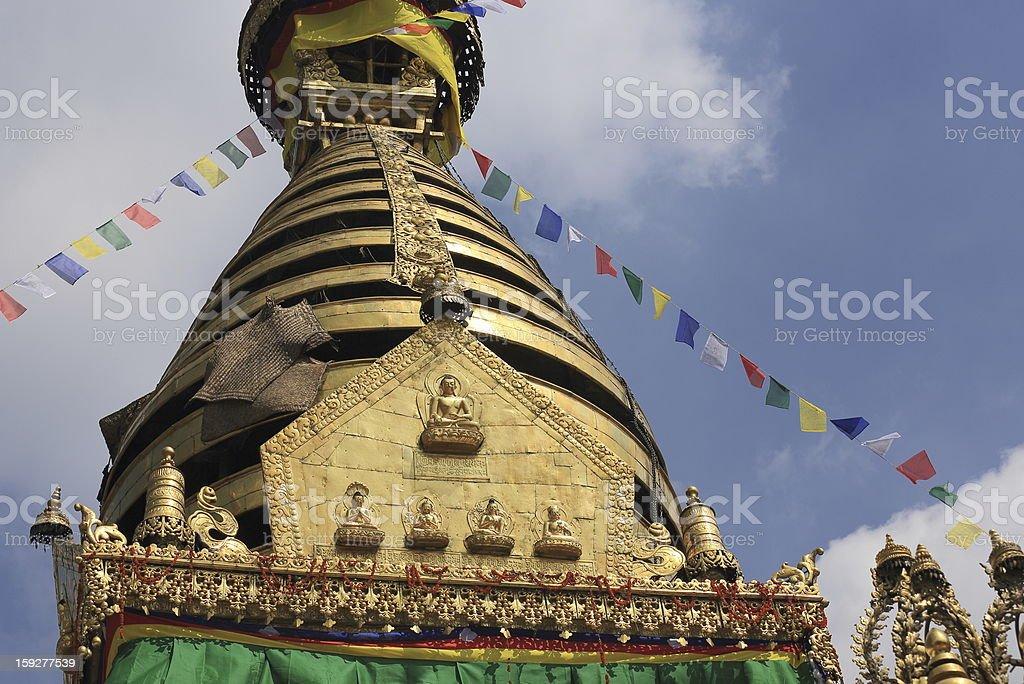 Swayambhunath Stupa seen from the south. royalty-free stock photo