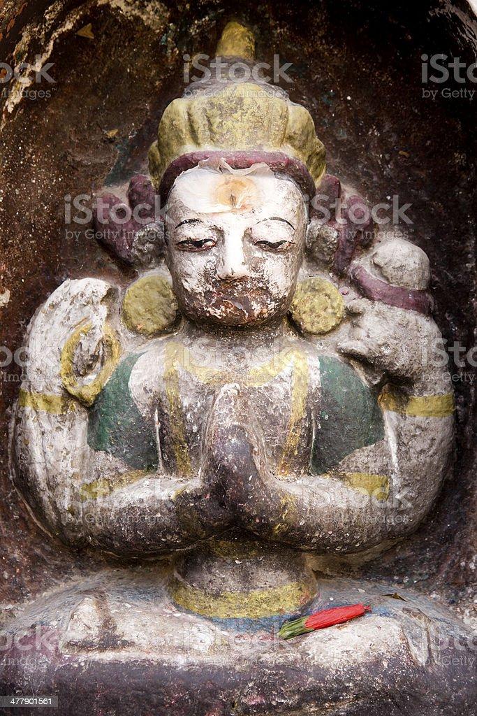 Swayambhunath Temple Nepal royalty-free stock photo