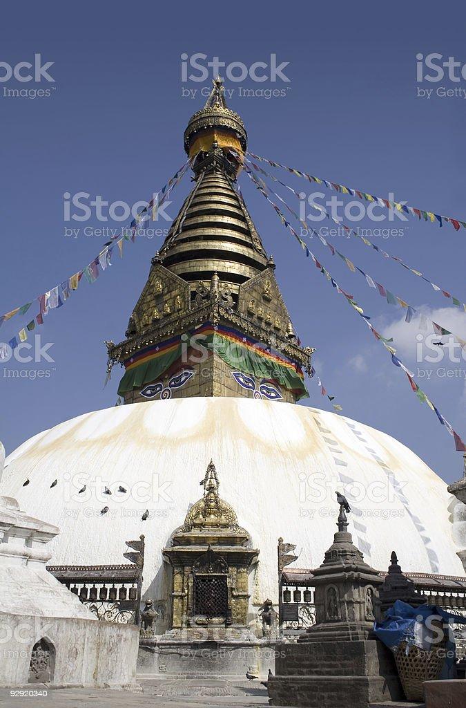 Swayambhunath Temple - Nepal royalty-free stock photo
