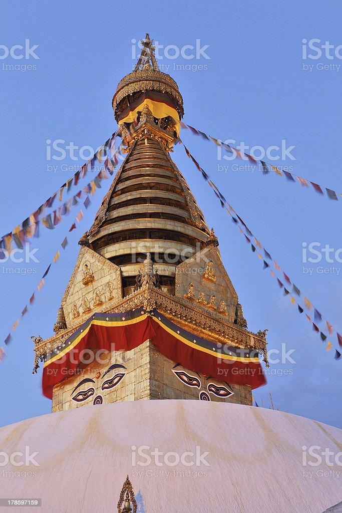 Swayambhunath temple royalty-free stock photo