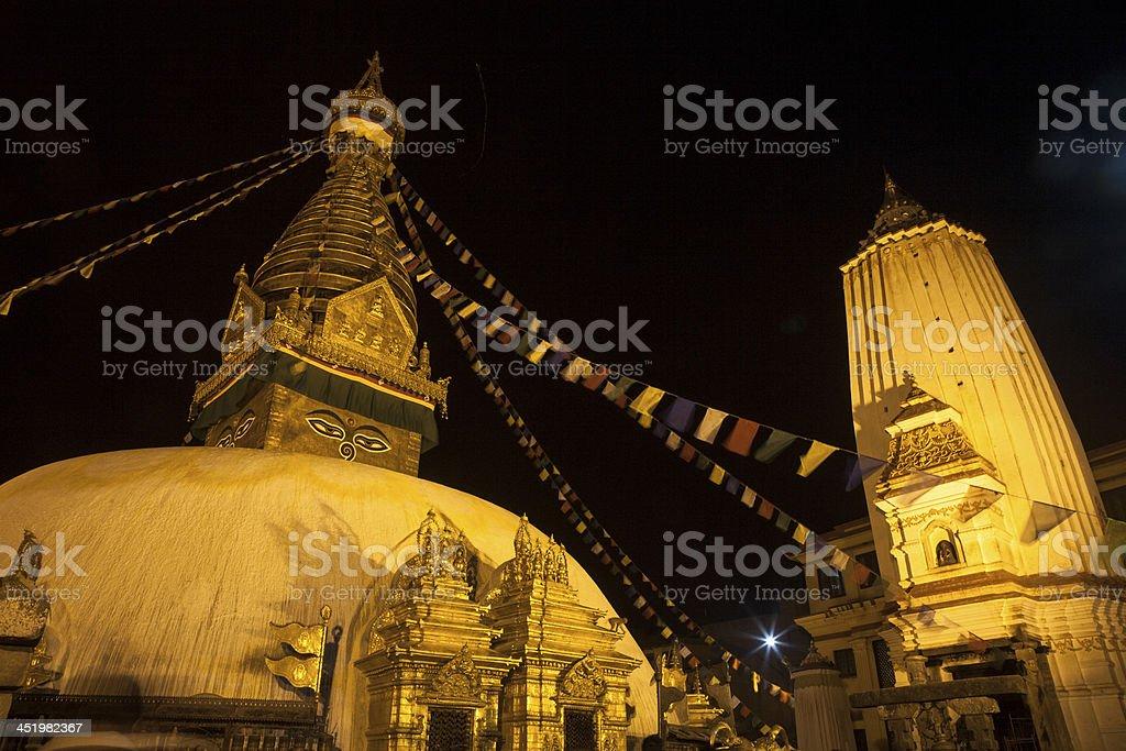 Swayambhunath, the Monkey Temple, Nepal royalty-free stock photo