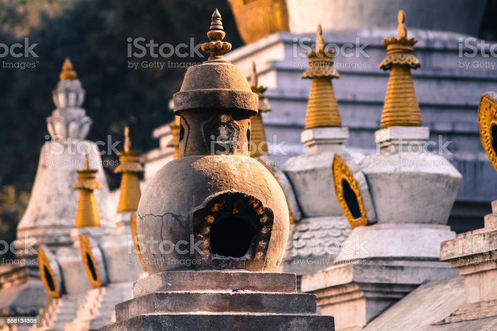 Swayambunath temple stock photo