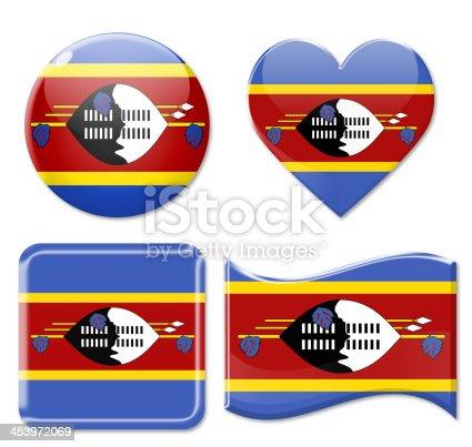 istock Swaziland Flags & Icon Set 453972069