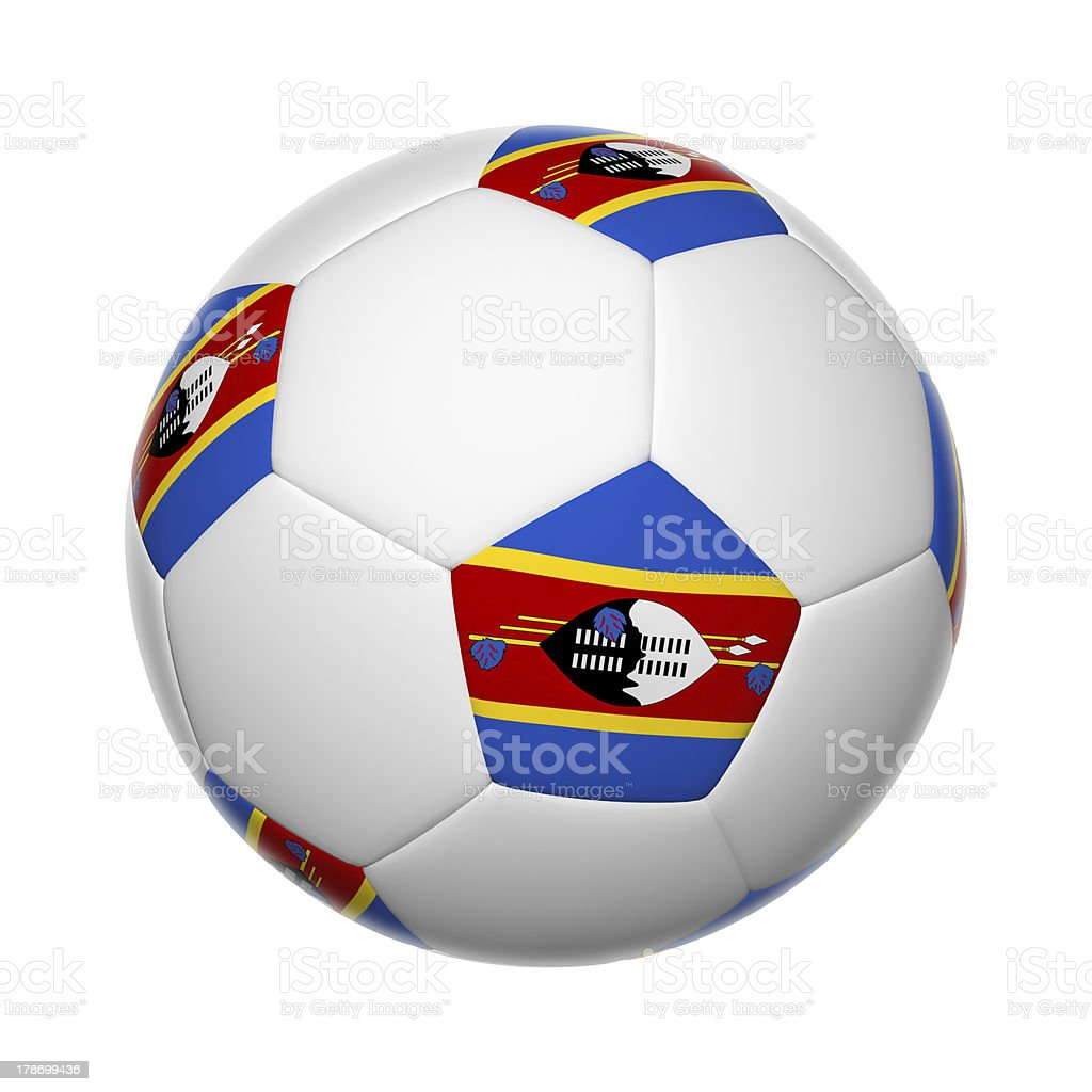 Swaziland soccer ball stock photo