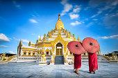 Swe taw myat buddha tooth relic pagoda, Yangon Myanmar (Burma)