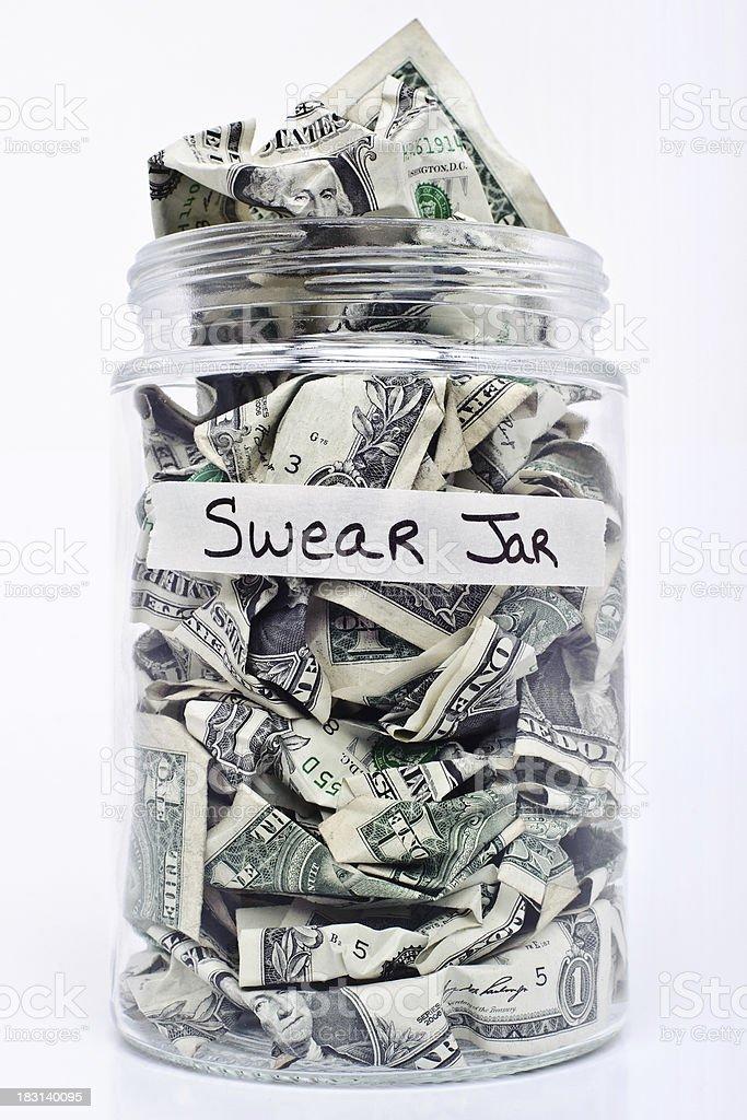 Swear Jar stock photo