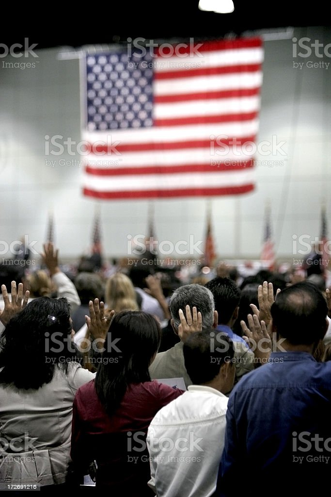 Swearing In stock photo