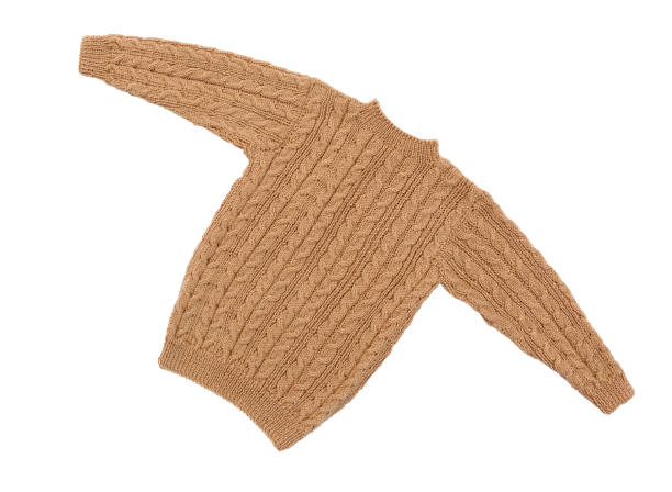 isolierte pullover stricken - strickmantel stock-fotos und bilder