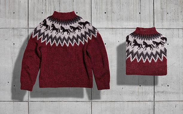Sweater mockup set stock photo