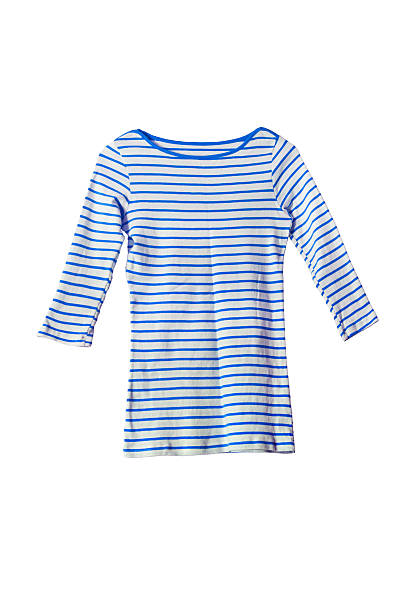 Pullover Blue striped pullover on white background sailor suit stock pictures, royalty-free photos & images