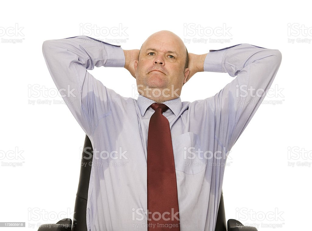 Sweating Business Man stock photo