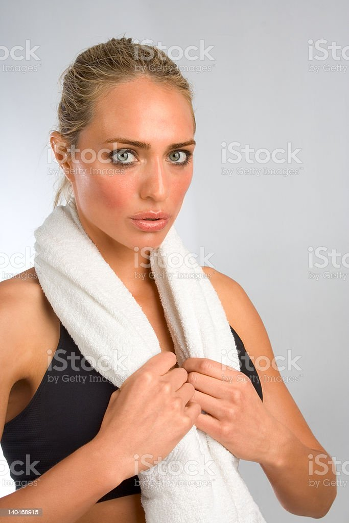 Sweaty and tired royalty-free stock photo