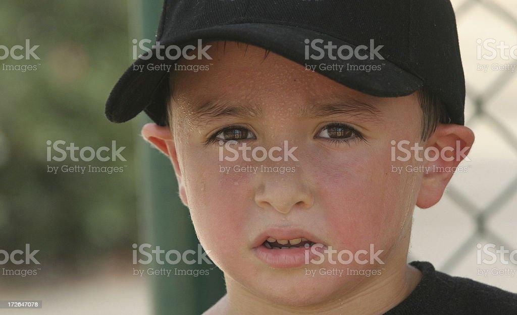 Sweaty Boy stock photo