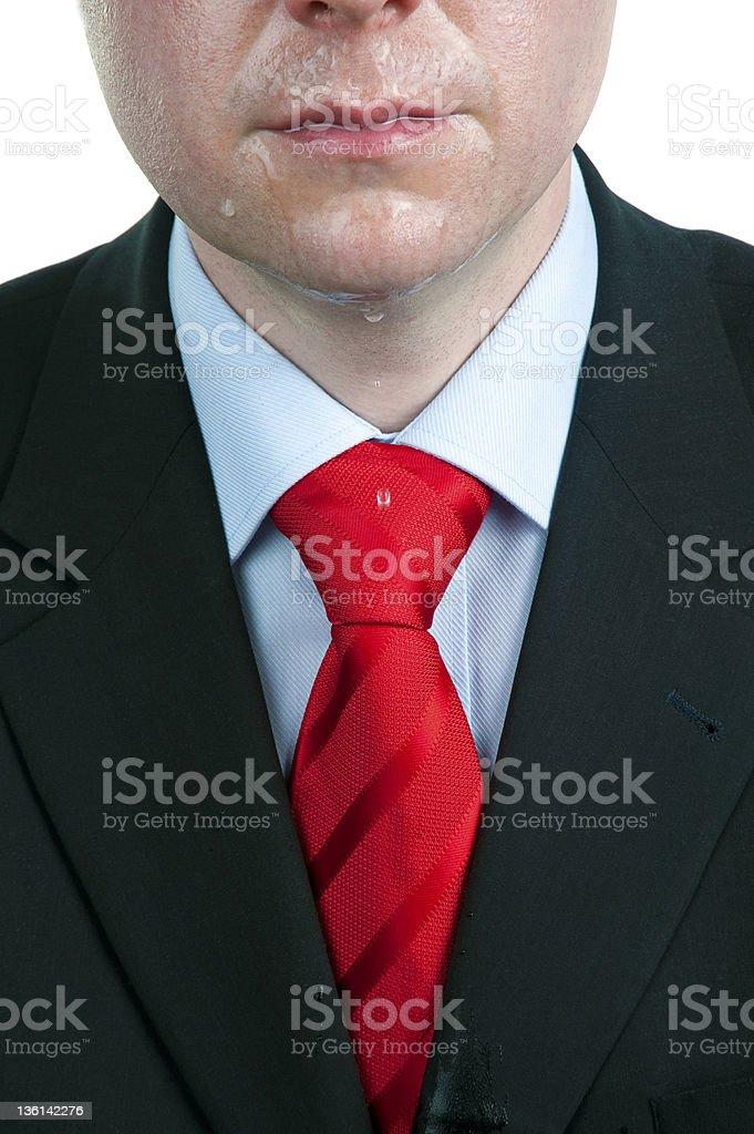 Sweaty Businessman stock photo