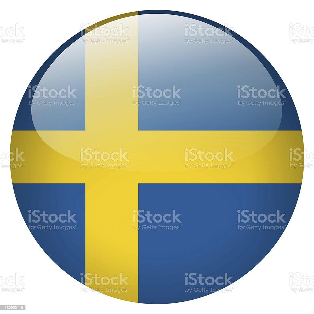 sweden button stock photo