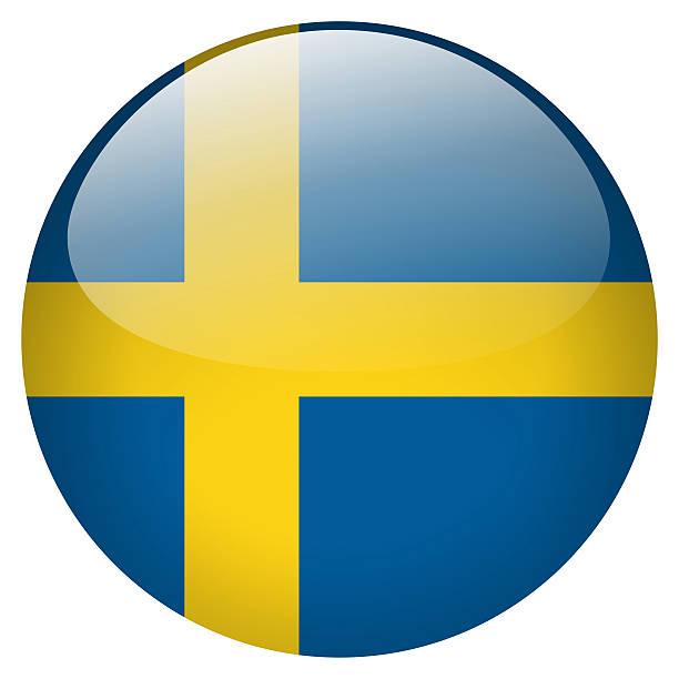 A Suécia botão - foto de acervo