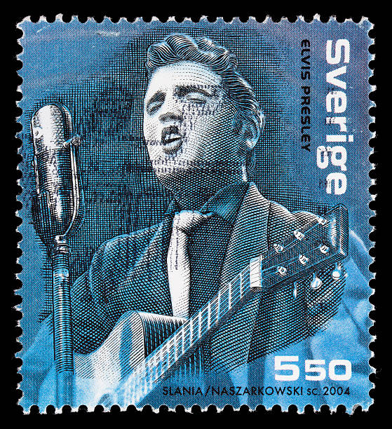 sweden elvis presley postage stamp - elvis stock photos and pictures
