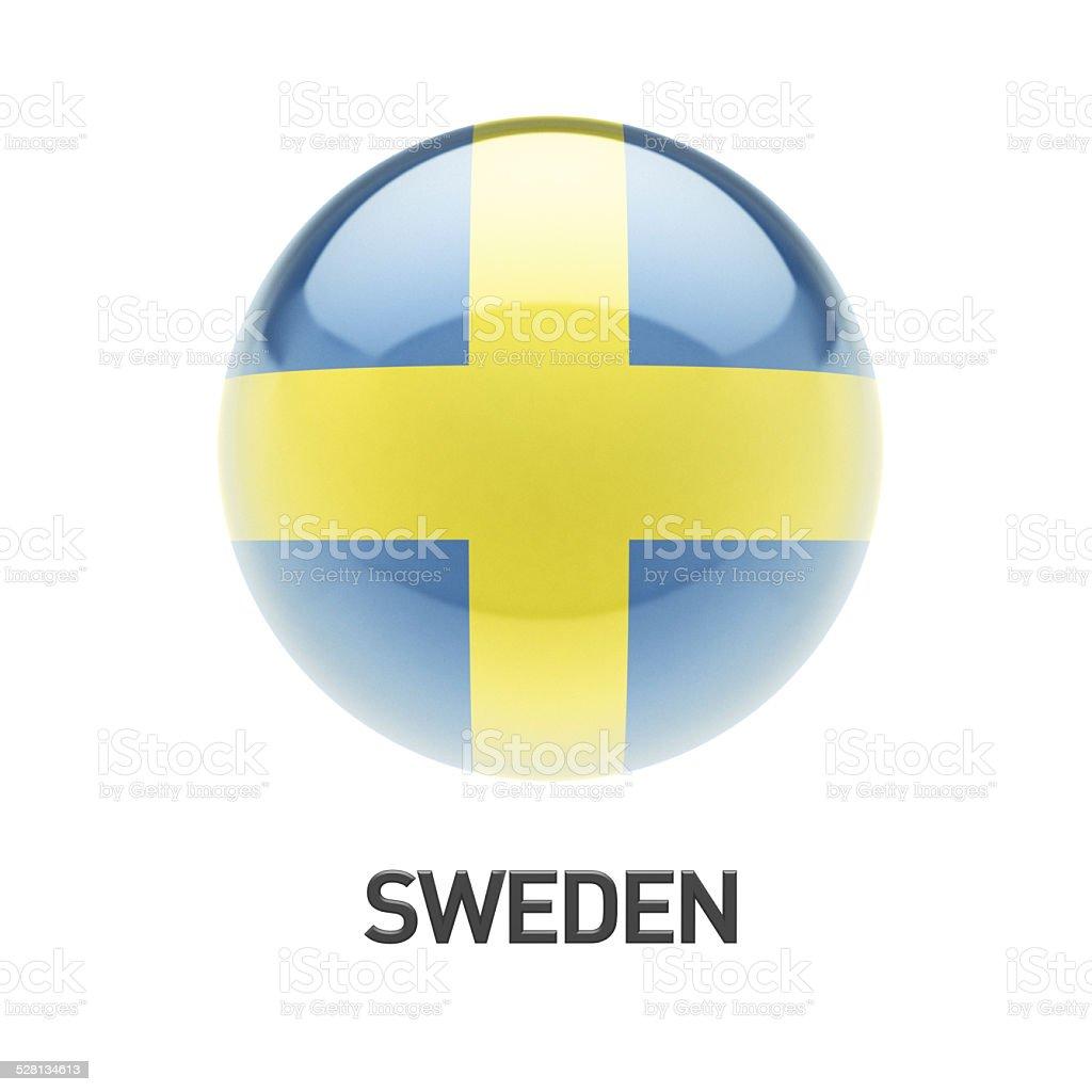 Sweden Flag Icon stock photo