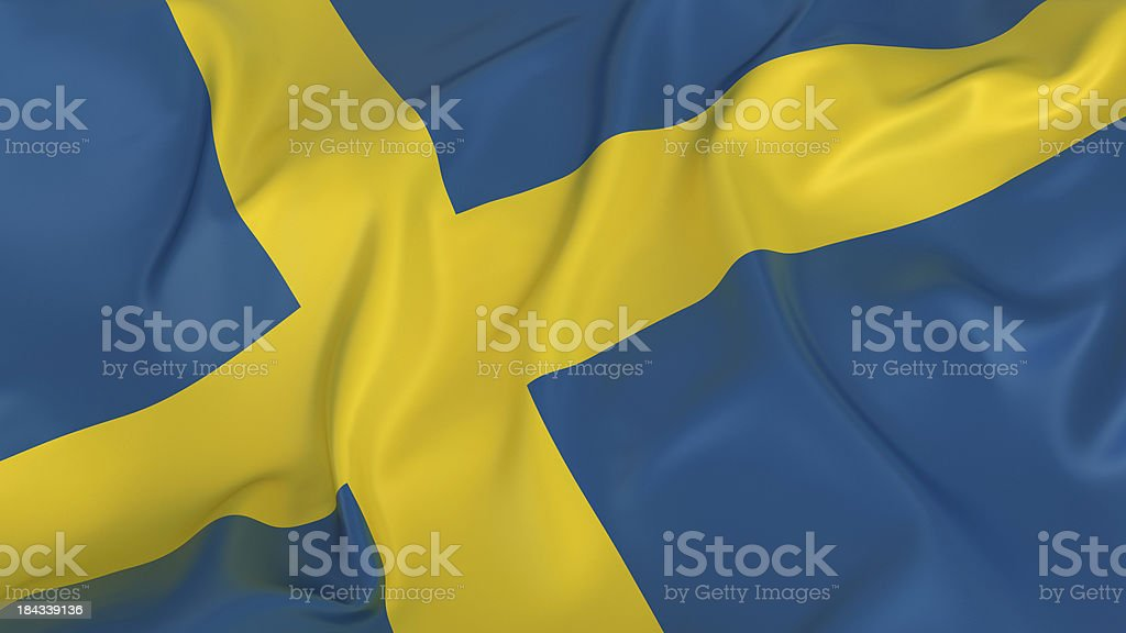 Sweden Flag royalty-free stock photo