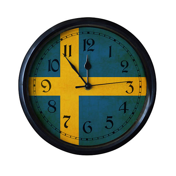 Sweden Flag Wall clock - Watch port for same series stock photo