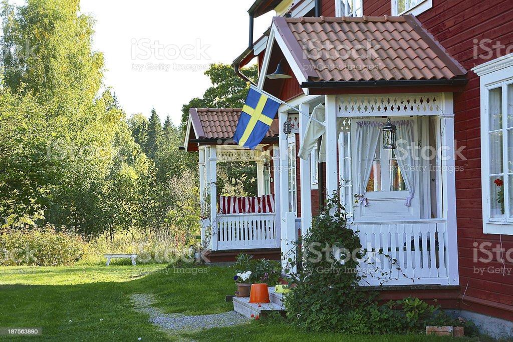Sweden idyllic summer countryside life stock photo