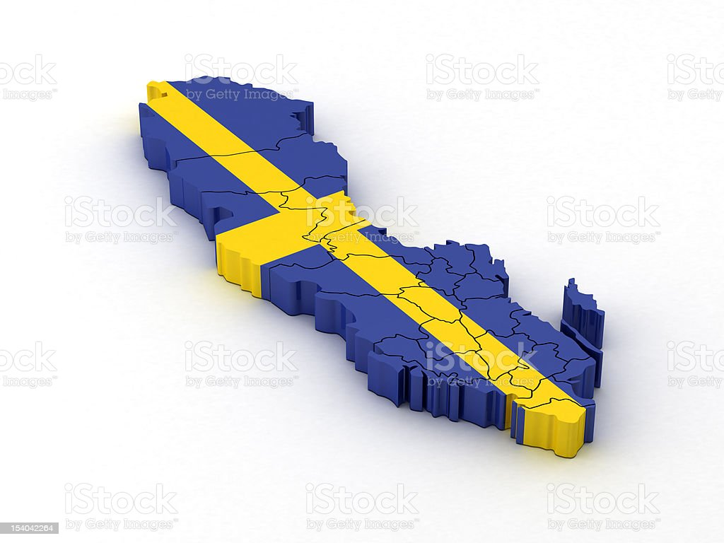 Sweden Map royalty-free stock photo