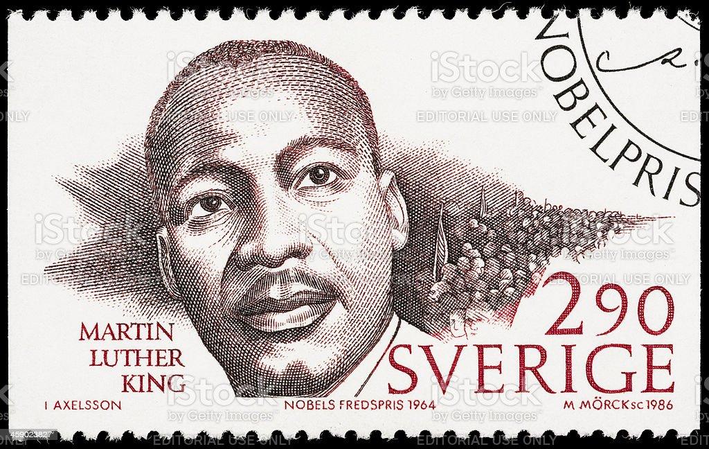 Sweden Martin Luther King Jr postage stamp stock photo