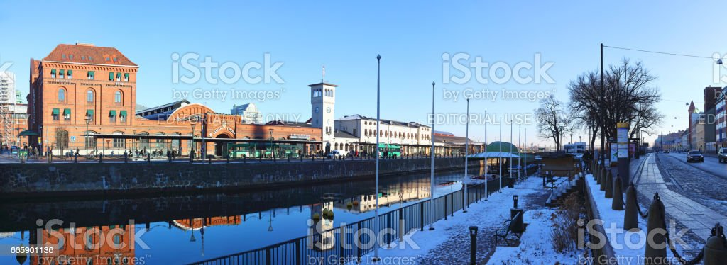 Sweden, Skane, Malmo, View of central station foto stock royalty-free