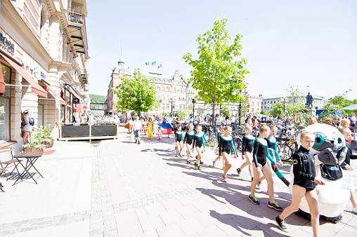 Sweden's National Day Celebration Street Parade (June 6th): Sundsvall Gymnastic Club