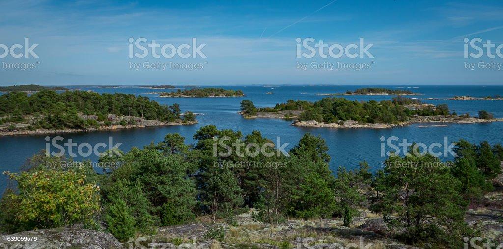 Swedish archipelago Oxelösund stock photo