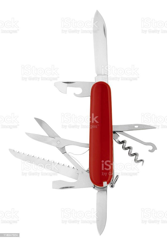 Swedish Army Knife on White stock photo