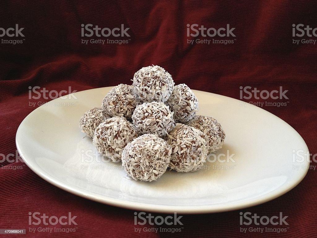 Schwedische Schokolade-Bälle (Chokladbollar) – Foto