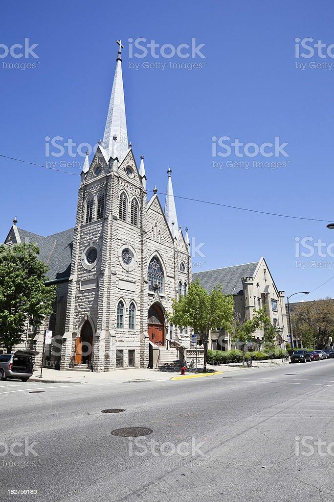 Swedish Church in Chicago royalty-free stock photo