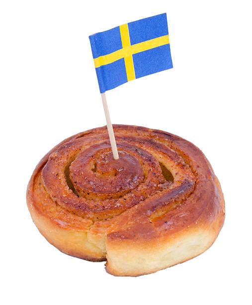 Swedish cinnamon bun stock photo
