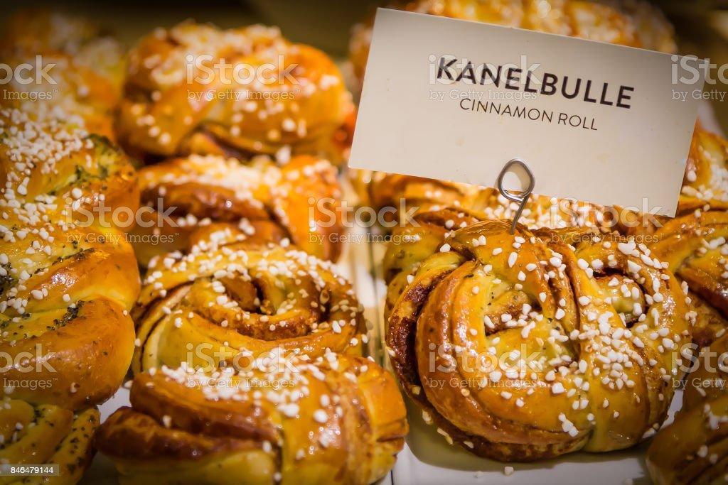 Swedish Cinnamon buns stock photo