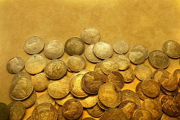Swedish coins stock photo