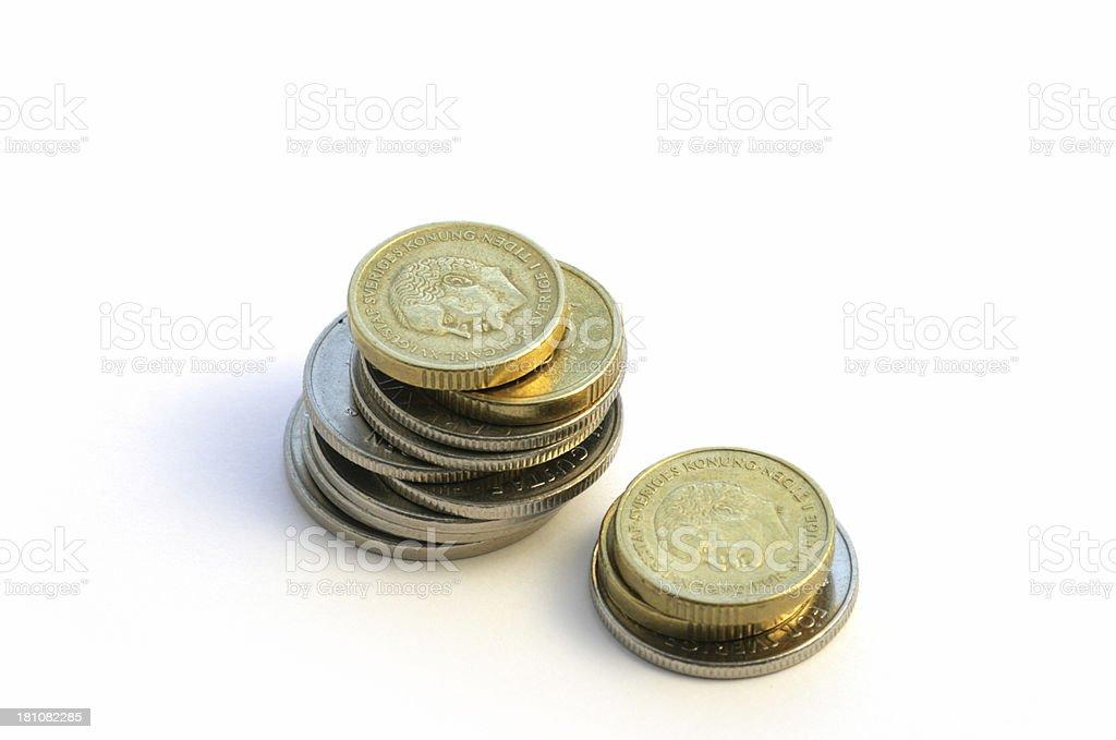 Swedish Coins royalty-free stock photo