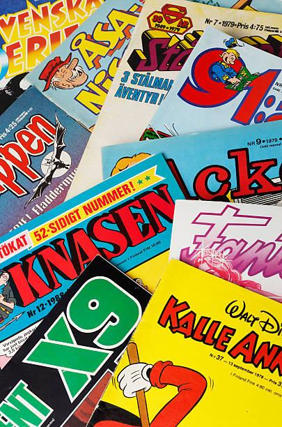 Swedish comic magazines ストックフォト