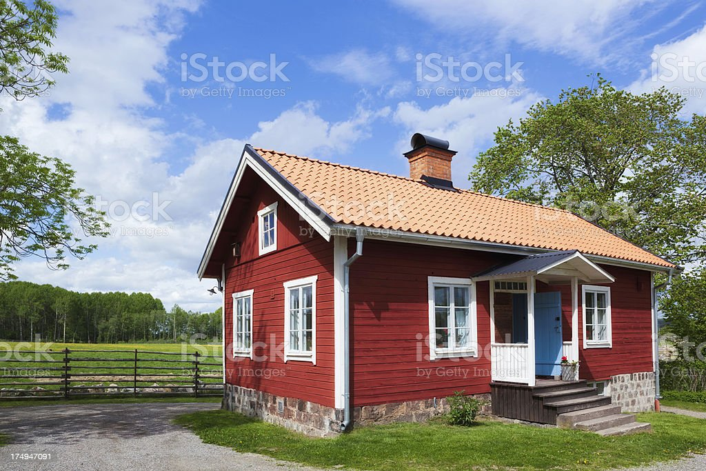 Swedish country house royalty-free stock photo