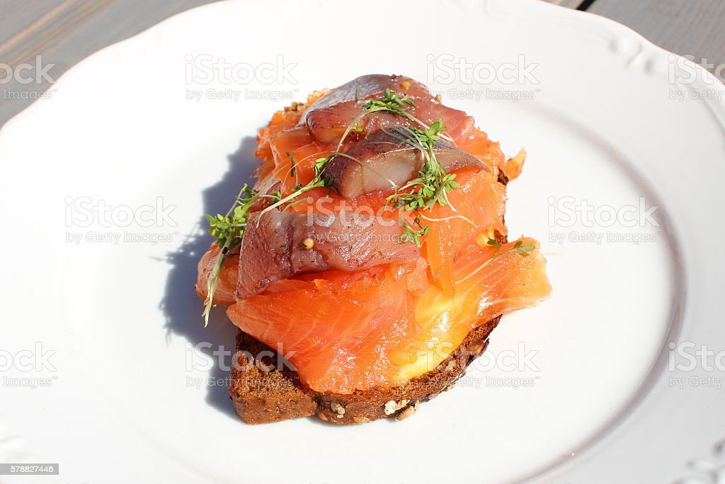 Swedish Cuisine - Gravalax stock photo