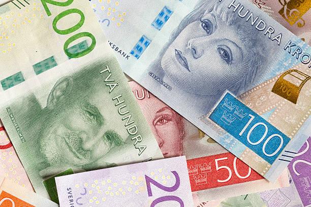 szwedzka waluta zbliżenie - szwecja zdjęcia i obrazy z banku zdjęć