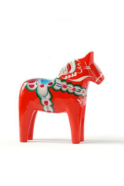Schwedische Dala Horse-Rot – Foto