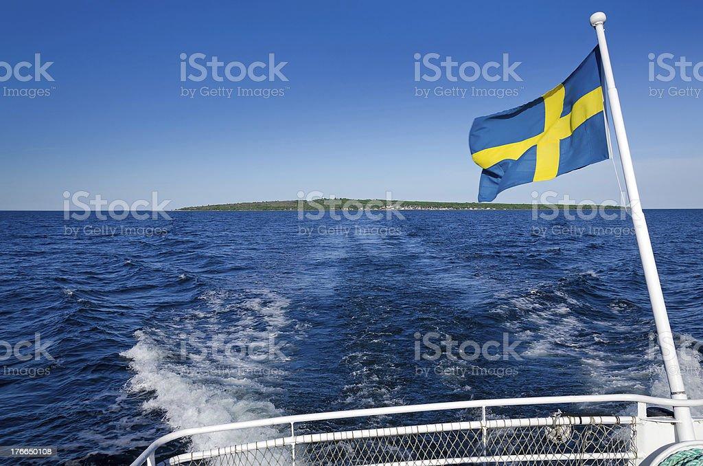 Swedish ferry trip royalty-free stock photo
