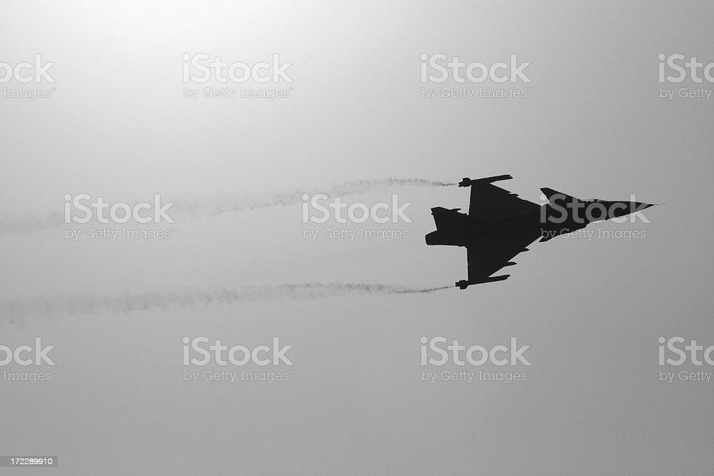 Swedish fighter royalty-free stock photo