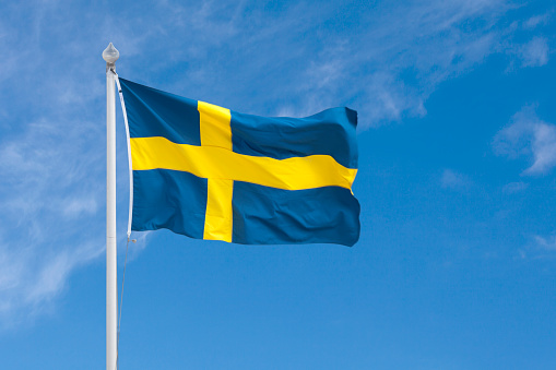 Swedish Flag Stock Photo - Download Image Now