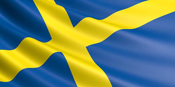 Schwedische Flagge. – Foto