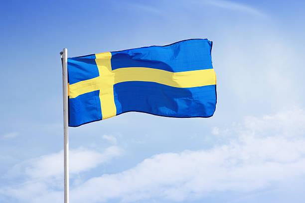 Bandeira da Suécia. - foto de acervo