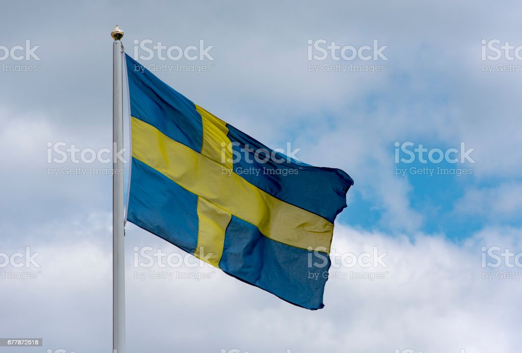 Swedish flag, picture with space for text royalty-free stock photo